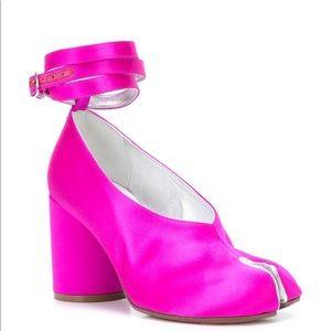 Maison Margiela Tabi Pink Ankle Wraparound Pumps
